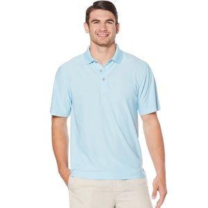 Cubavera Blue Short Sleeve Moisture Wicking Polo